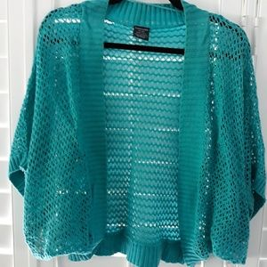 Adorable Aqua shrug, XXL/20
